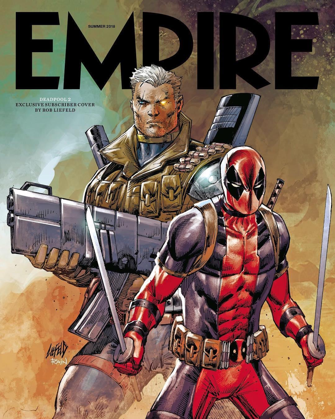 Deadpool 2 ganha uma nova capa de revista pela Empire com ilustração de Rob Liefeld!