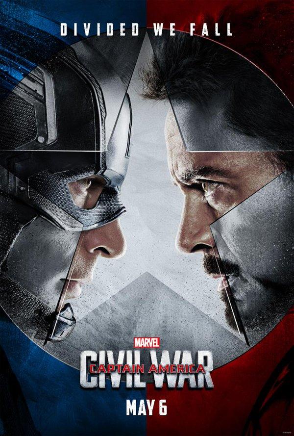 Capitão América: Guerra Civil ganha seus primeiros cartazes
