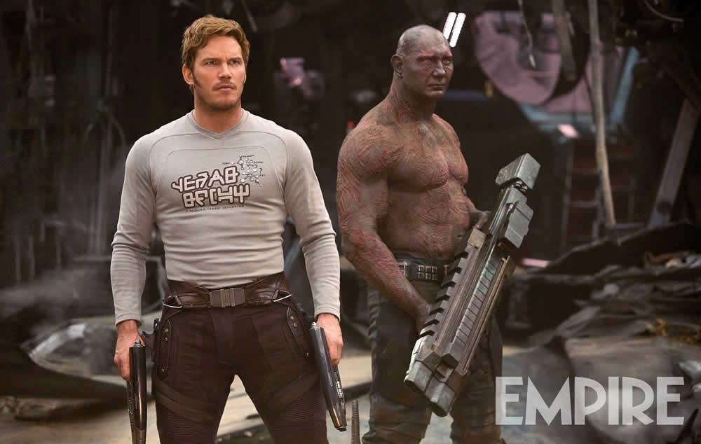 Peter Quill e Drax aparecem em uma nova imagem de Guardiões da Galáxia Vol. 2