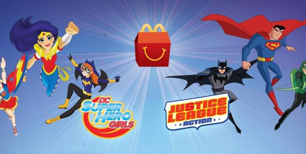 Super-heróis da DC são os novos brindes no McLanche Feliz de maio no Brasil!