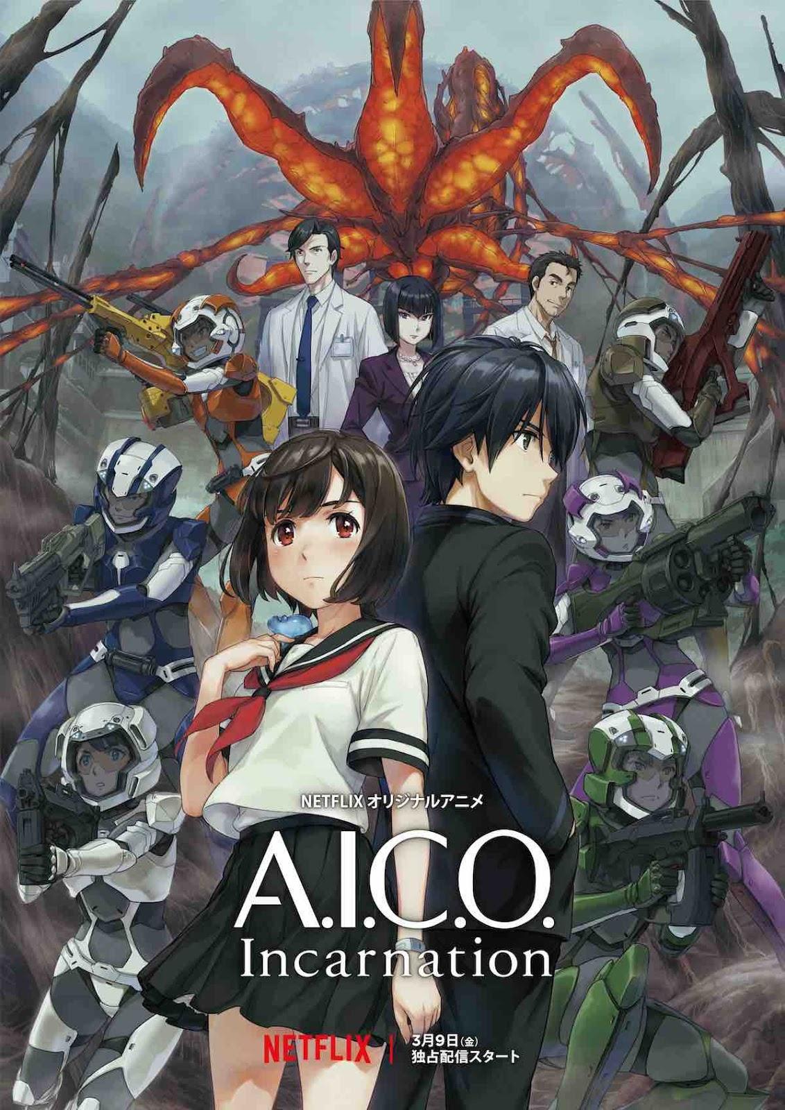 A.I.C.O Incarnation, novo anime original da Netflix ganha trailer e data de estreia!