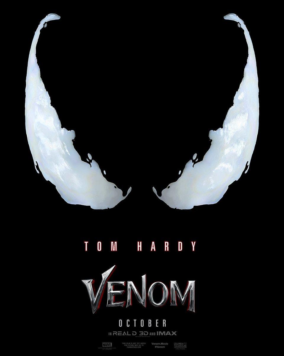 Divulgado o primeiro pôster oficial do filme do Venom!