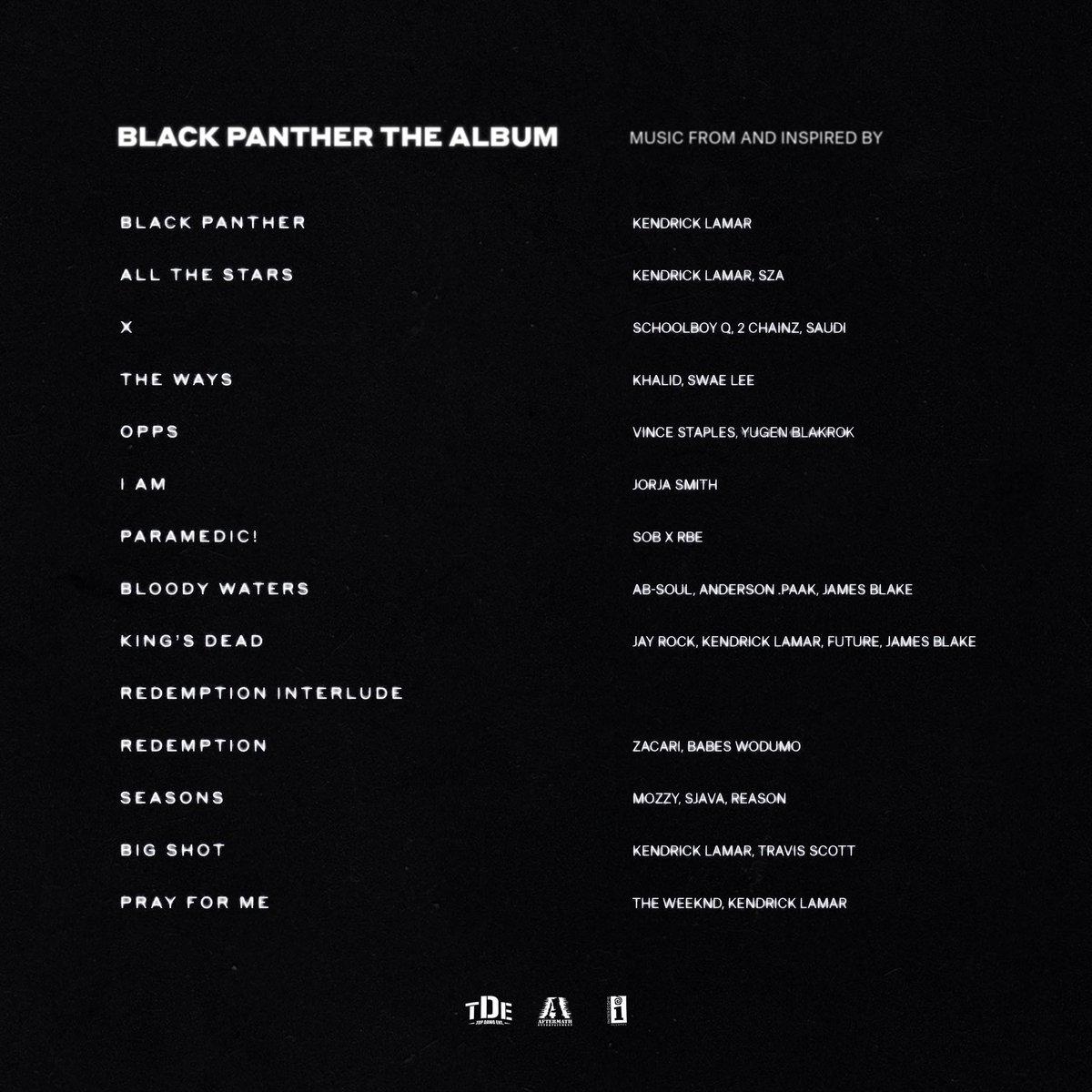 Divulgado a capa do álbum e a lista de faixas da trilha sonora de Pantera Negra!