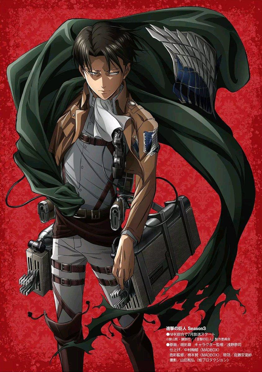 Terceira temporada de Attack on Titan ganha um novo pôster com Levi em destaque!