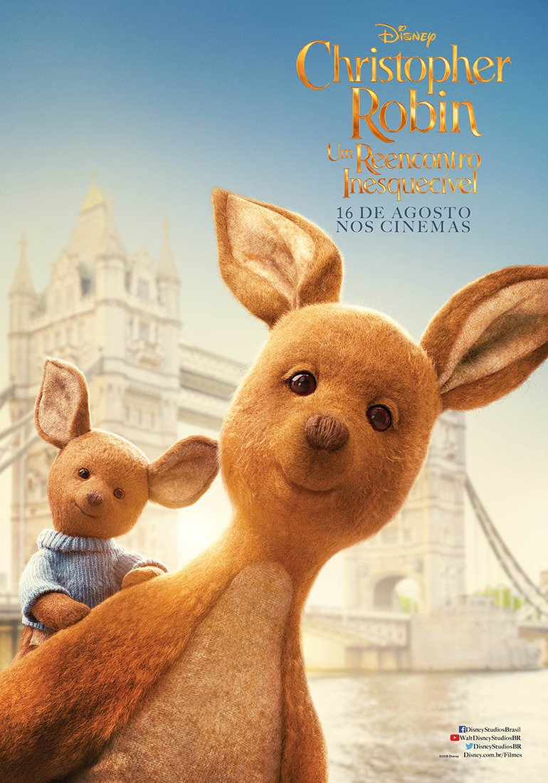Divulgado novos pôsteres de Christopher Robin, filme live-action do Ursinho Pooh!