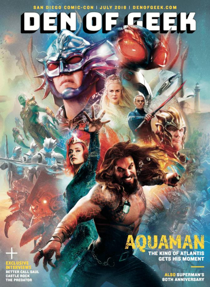 Nova capa de revista do filme do Aquaman revela mais o visual dos personagens!
